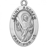 St. Andrew Pendant Oval Sterling Silver with Chain - S920920