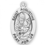 St. Augustine Pendant Oval Sterling Silver with Chain - S921520