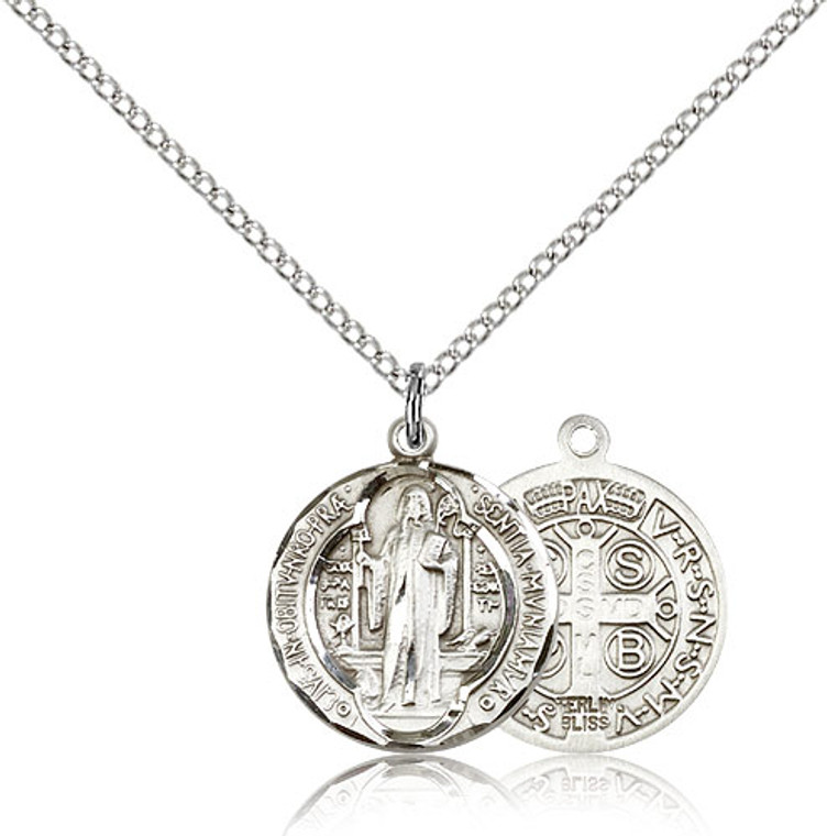 St. Benedict Medal, Sterling Silver - 0026BSS/18SS