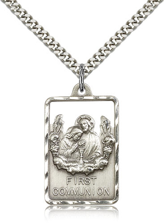 Communion First Reconciliation Medal, Sterling Silver - 4201SS/24S