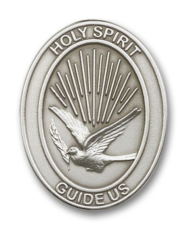 Holy Spirit Visor Clip Silver Finish