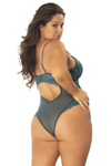 PAGE Unlined Lace Teddy with Underwire