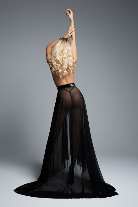 COCO - WRAPPED AROUND YOU SHEER SKIRT
