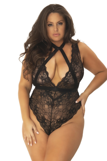 ELICIA SOFT CUP TEDDY WITH HARNESS CHOKER