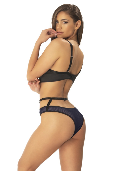 JANE Non-functional Buckle Balcony Cup Bra with Matching High Waisted Panty