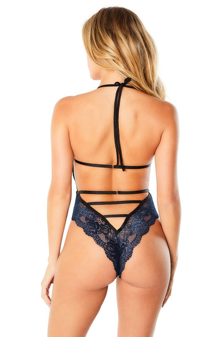 WILLOW LACE TEDDY WITH STRAPPY DETAILS AT BACK