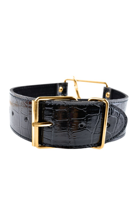 Fetish Fantasy Gold Collar and Leash - Black