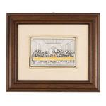 Last Supper Italian Framed Plaque