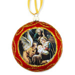 Holy Family Tinsel Ornament