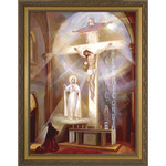 Last Vision of Fatima w/ Gold Frame