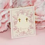Gold Plated Cross Earrings thumbnail 2
