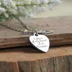 A Piece Of My Heart Is In Heaven Necklace thumbnail 1