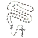 7MM Amethyst and Pearl Rosary