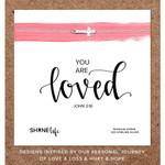 """""""You Are Loved"""" Cross Necklace - Silver"""