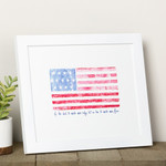 Battle Hymn Watercolor Flag Framed Print thumbnail 1