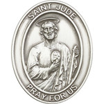 Antique Silver St. Jude Visor Clip