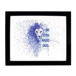 Be Courageous Lion Framed Print