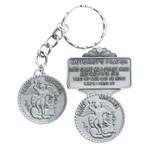 Pewter St Michael Key Ring And Visor Clip thumbnail 1
