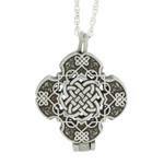 Celtic Cross Prayer Locket