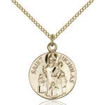 14kt Gold Filled St. Nicholas Pendant