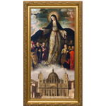 Mary Mother of the Church Gold Framed Art (5x10)