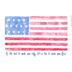 Battle Hymn Watercolor Flag Personalized Prayer Card