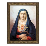 Seven Sorrows of Mary w/ Gold Frame
