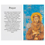 St. Francis of Assisi Silver Medal with Prayer Card thumbnail 1