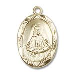 14kt Gold St. Frances Cabrini Medal