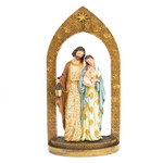 Bronze Damask Holy Family Arch Figure