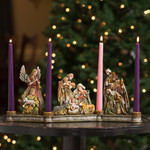 Nativity Advent Candleholder with Candles