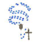 Hail Mary Blue Crystal Rosary