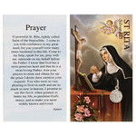 St. Rita Silver Medal with Prayer Card