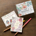 Coloring Cards: Colorful Blessings