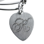 Youth Holy Charms Bangle Bracelet with Engravable Heart thumbnail 2