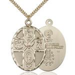 5-Way Holy Spirit Pendant, Bliss, 14Kt Gold-Filled