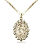 14kt Gold Filled Miraculous Pendant 7/8 X 1/2 Inch