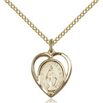 14kt Gold Filled Miraculous Pendant 5/8 X 1/2 Inch