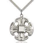 "Sterling Silver Cross Pendant 1 1/2 X 1 1/4"""