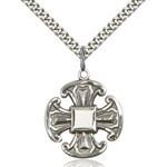 "Sterling Silver Cross Pendant 1 X 7/8"""