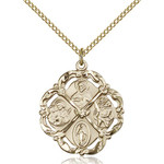 """14kt Gold Filled 5-Way Pendant 1 X 7/8"""""""