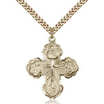"""14kt Gold Filled 5-Way Pendant 1 1/4 X 1"""""""
