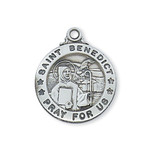 Sterling Silver St. Benedict Pendant - 2600315