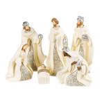 Blue & Ivory Nativity Set - 6pc