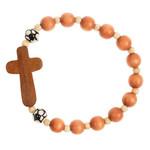 Wood Cross Soccer Bracelet