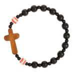 Wood Cross Baseball Bracelet