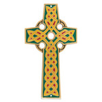 Celtic Cross with Colorful Inlay