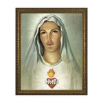 Immaculate Heart w/ Gold Frame