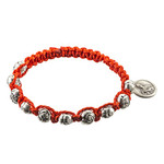 St. Therese Red Macrame Bracelet