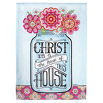 Christ is the Head of this House Floral Garden Flag